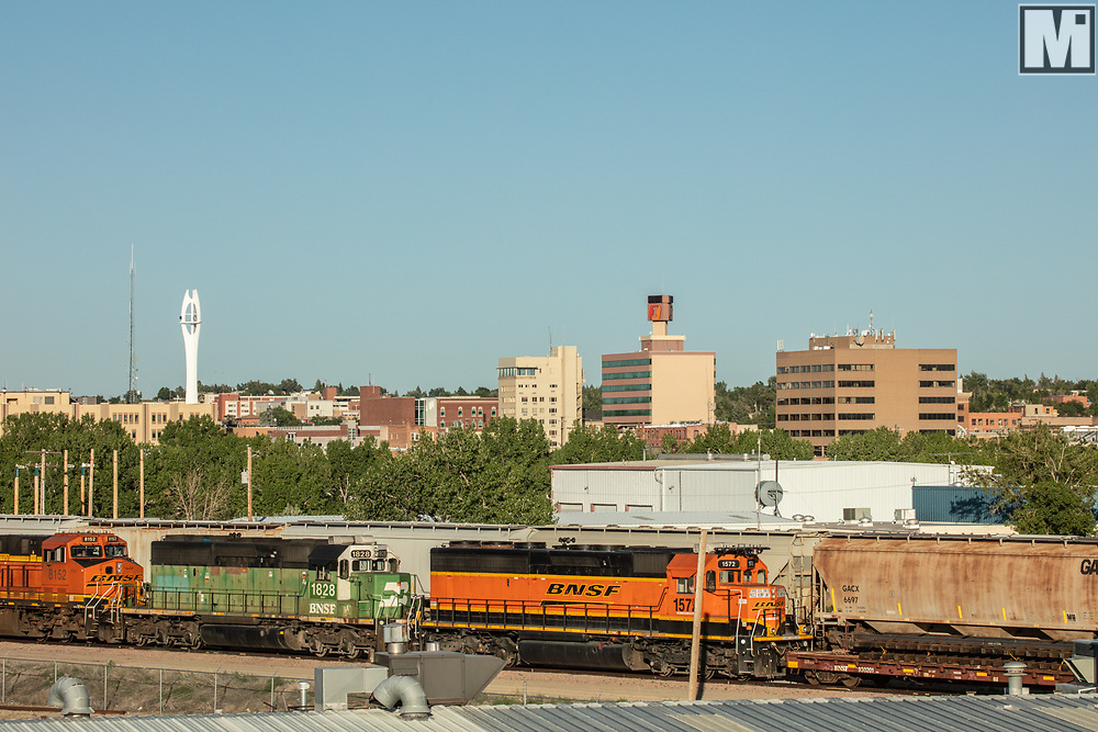 Downtown Casper from North Poplar Street Railroad overpass