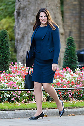 © Licensed to London News Pictures. 09/10/2018. London, UK.  Caroline Nokes,<br /> Minister of State for Immigration arrives in Downing Street for a cabinet meeting.  Photo credit: Vickie Flores/LNP