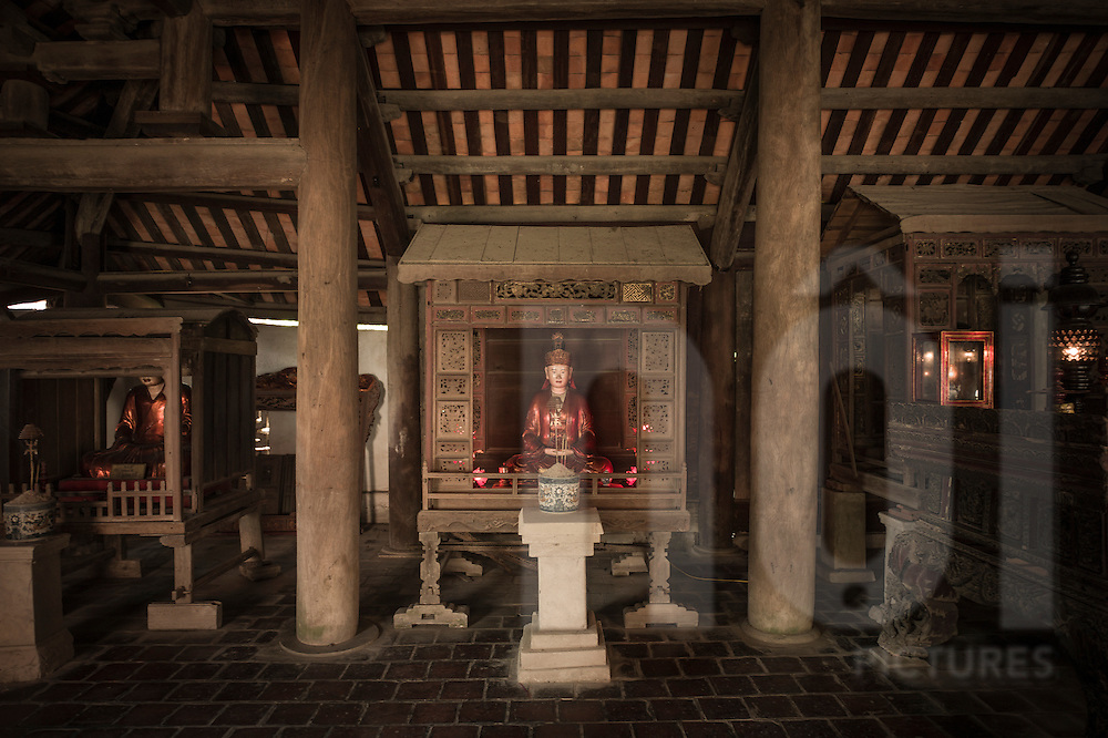 Wooden statue in But Thap Pagoda, Hanoi, Vietnam, Southeast Asia