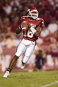 Arkansas Razorback quarterback Robert Johnson looks down field for a receiver during a 28 to 24 loss to the Vandebilt Commordores on September 10, 2005 at Donald W. Reynolds in Fayetteville, Arkansas..Mandatory Credit: Wesley Hitt/Icon SMI