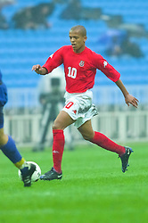 KIEV, UKRAINE - Tuesday, June 5, 2001: Wales' Robert Earnshaw in action during the Under-21 World Cup Qualifying match against Ukraine at the Dynamo Stadium. (Pic by David Rawcliffe/Propaganda)