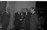 Official Opening of I.C.T.House..1963..01.10.1963..10.01.1963..1st October 1963..Dr James Ryan TD, Minister for Finance,officially opened I.C.T. House ,Adelaide Road, Dublin, for international Computers and Tabulators Ltd. The company had staff working in several sites around the city and the new premises will bring all of them together under the one roof..