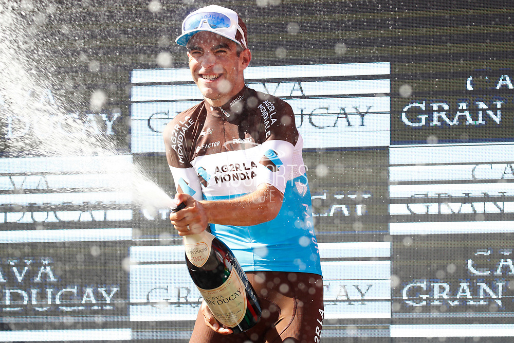 Podium, champagne, Tony Gallopin (FRA - AG2R - La Mondiale) winner, during the UCI World Tour, Tour of Spain (Vuelta) 2018, Stage 7, Puerto Lumbreras - Pozo Alcon 185,7 km in Spain, on August 31th, 2018 - Photo Luca Bettini / BettiniPhoto / ProSportsImages / DPPI