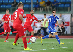 Fabian Delph of England (Manchester City) crosses, which is converted by Theo Walcott of England (Arsenal)  - Mandatory byline: Joe Meredith/JMP - 07966386802 - 05/09/2015 - FOOTBALL- INTERNATIONAL - San Marino Stadium - Serravalle - San Marino v England - UEFA EURO Qualifers Group Stage