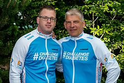 24-06-2017 NED: We Bike 2 Change Diabetes, Landgraaf<br /> Oefenweekend voor 15 deelnemers die in september de Tour de Mont Blanc gaan doen. Thijs en Harold
