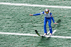 Matjaz Pungertar during Slovenian summer national championship and opening of the reconstructed Bloudek's hill in Planica on October 14, 2012 in Planica, Ratece, Slovenia. (Photo by Grega Valancic / Sportida)