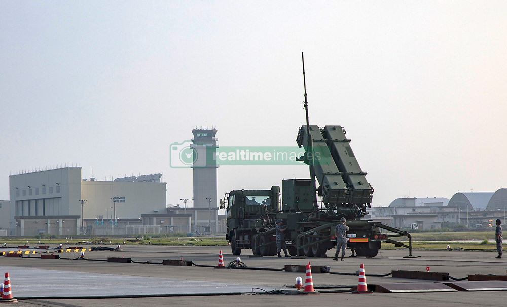 August 29, 2017 - Iwakuni, Yamaguchi, Japan - Soldiers with the Japanese Air Self-Defense 2nd Air Defense Missile Group, set up a MIM-104 Patriot Missile system at MCAS Iwakuni August 29, 2017 in Iwakuni, Yamaguchi, Japan. The deployment follows the launch of a North Korean ballistic missile test that flew over Japan on August 28th. (Credit Image: © Aaron Henson/Planet Pix via ZUMA Wire)