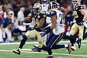 NEW ORLEANS, LA - NOVEMBER 27:  Tim Hightower #34 of the New Orleans Saints runs the ball against the Los Angeles Rams at Mercedes-Benz Superdome on November 27, 2016 in New Orleans, Louisiana.  The Saints defeated the Rams 49-21.  (Photo by Wesley Hitt/Getty Images) *** Local Caption *** Tim Hightower