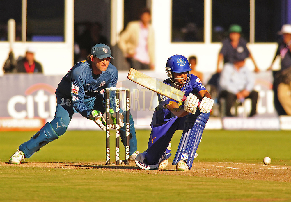 PORT ELIZABETH, SOUTH AFRICA - 2 May 2009.  Shuman bats during the  IPL Season 2 match between the Deccan chargers vs Rajasthan Royals held at St Georges Park in Port Elizabeth , South Africa.