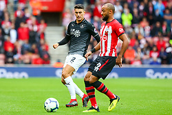 Matthew Lowton of Burnley challenges Nathan Redmond of Southampton  - Mandatory by-line: Ryan Hiscott/JMP - 12/08/2018 - FOOTBALL - St Mary's Stadium - Southampton, England - Southampton v Burnley - Premier League