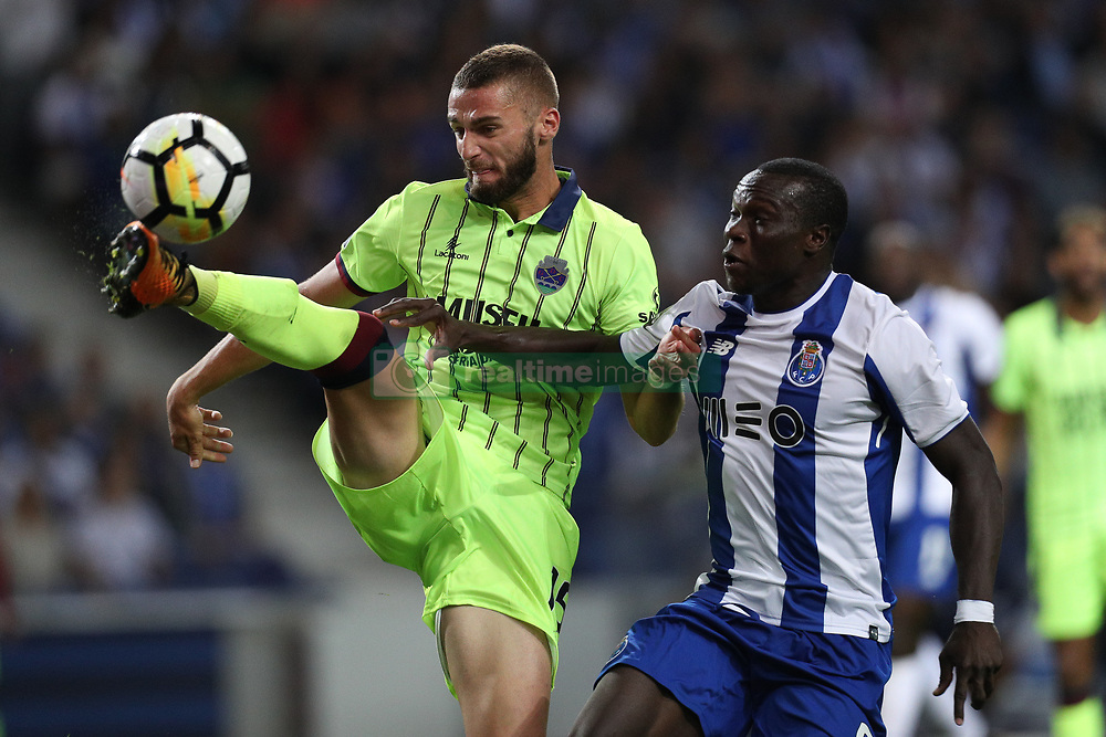 September 9, 2017 - Porto, Porto, Portugal - Porto's Cameroonian forward Vincent Aboubakar (R) vies with Chaves Portuguese defender Domingos Duarte (L) during the Premier League 2017/18 match between FC Porto and GD Chaves, at Dragao Stadium in Porto on September 9, 2017. (Credit Image: © Dpi/NurPhoto via ZUMA Press)