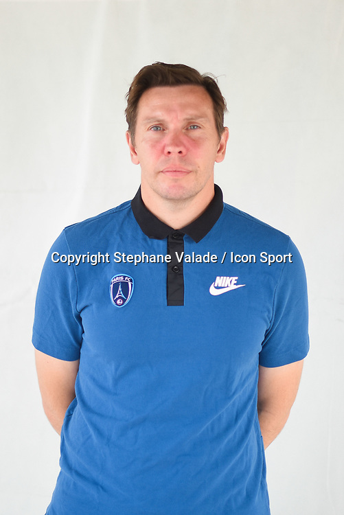 Mickael Boully during photoshooting of Paris FC for new season 2017/2018 on October 17, 2017 in Paris, France<br /> Photo : Stephane Valade / Icon Sport