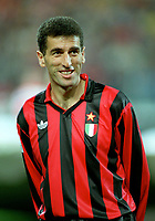 Fotball<br /> Italia<br /> Feature AC Milan<br /> Foto: Colorsport/Digitalsport<br /> NORWAY ONLY<br /> <br /> Mauro Tassotti (AC Milan) PSV Eindhoven v AC Milan, European Champions League, 9/12/1992
