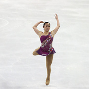 Caroline Zhang competes during the championship ladies free skate at the 2014 US Figure Skating Championships at the TD Garden on January 11, 2014 in Boston, Massachusetts.