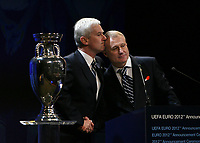Michal  Listkiwicz (left) President of Polish Fa<br /> <br /> Grygoriy Surkis (right) President of Ukraine FA
