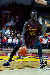 NORMAL, IL - January 19: /lu30. during a college basketball game between the ISU Redbirds and the Loyola University Chicago Ramblers on January 19 2020 at Redbird Arena in Normal, IL. (Photo by Alan Look)