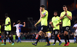 Jack Baldwin and Steven Taylor of Peterborough United leave the pitch dejected at full-time - Mandatory by-line: Joe Dent/JMP - 19/04/2018 - FOOTBALL - Ewood Park - Blackburn, England - Blackburn Rovers v Peterborough United - Sky Bet League One