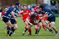 Bristol Rugby replacement Kyle Traynor in action - Mandatory byline: Rogan Thomson/JMP - 01/05/2016 - RUGBY UNION - Goldington Road - Bedford, England - Bedford Blues v Bristol Rugby - Greene King IPA Championship Play Off Semi Final 1st Leg.