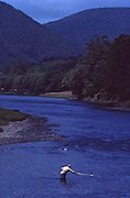 PA Landscapes, Fishing, Fisherman in Pine Creek, North central PA