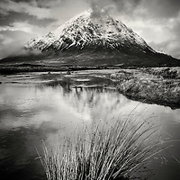 Mountain in winter at Buachaille Etive Mor, Highlands, Scotland