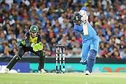 KL Rahul drives. T20 international, Australia v India. Sydney Cricket Ground, NSW, Australia, 25 November 2018. Copyright Image: David Neilson / www.photosport.nz