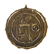 Pirates of the Caribbean Screen-Worn medallion up for auction<br /> <br /> According to pirate legend, this gold medallion was one of the 882 identical pieces of Aztec gold found within the doomed Treasure of Cortes. <br /> <br /> After briefly seizing the treasure, the crew of the Black Pearl are cursed to spend all eternity searching for every piece of the scattered coins, which inevitably leads them to an encounter with Jack Sparrow, Will Turner, and its bearer, Elizabeth Swann.<br /> <br /> Elizabeth Swann, portrayed by Keira Knightley, was the daughter of the governor of Port Royal, Keira Knightley. Once a proper English lady, Elizabeth was taken by pirates because of the medallion in her possession. <br /> <br /> Throughout the movie, Elizabeth was changed into a courageous pirate. Elizabeth, although betrothed to an Englishman, longs to marry for love, and she has found that in Will Turner. Elizabeth finally marries Will just before Will's death and conversion into the immortal Captain of the Flying Dutchman.<br /> <br /> This screen-used medallion worn by actress Keira Knightley in the 2003 adventure film Pirates of the Caribbean: Curse of the Black Pearl will be auctioned by will be auctioned by Boston-based RR Auction.<br /> <br /> The gold-colored metal medallion, 1.25″ in diameter, features a central skull surrounded by ancient Aztec-inspired designs. The medallion can be viewed throughout the film hanging from a necklace worn by Knightley's character Elizabeth Swann. <br /> ©RR Auction/Exclusivepix Media