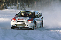 Motorsport, Rally, Trond Sveinsvoll tester sin nye Ford Escort WRC på Dagali 6. januar 2000. Foto: Digitalsport, Jan A. Holshagen
