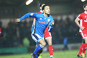 Joe Thompson back on the pitch during the EFL Sky Bet League 1 match between Rochdale and Walsall at Spotland, Rochdale, England on 23 December 2017. Photo by Daniel Youngs.