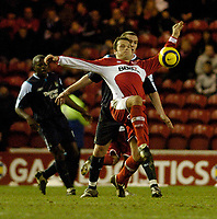 Photo: Leigh Quinnell.<br /> Middlesbrough v Manchester City. The Barclays Premiership. 31/12/2005. Middlesbroughs Mark Viduka tries some acrobatics during the game.