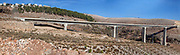 Akbara Bridge. Highway 89 bridge across Wadi Akbara in Northern Israel