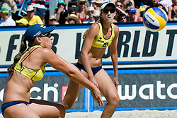 Vivian Danielle da Conceicao Cunha and Taiana De Souza Lima of Brazil at A1 Beach Volleyball Grand Slam tournament of Swatch FIVB World Tour 2010, final, on July 31, 2010 in Klagenfurt, Austria. (Photo by Matic Klansek Velej / Sportida)