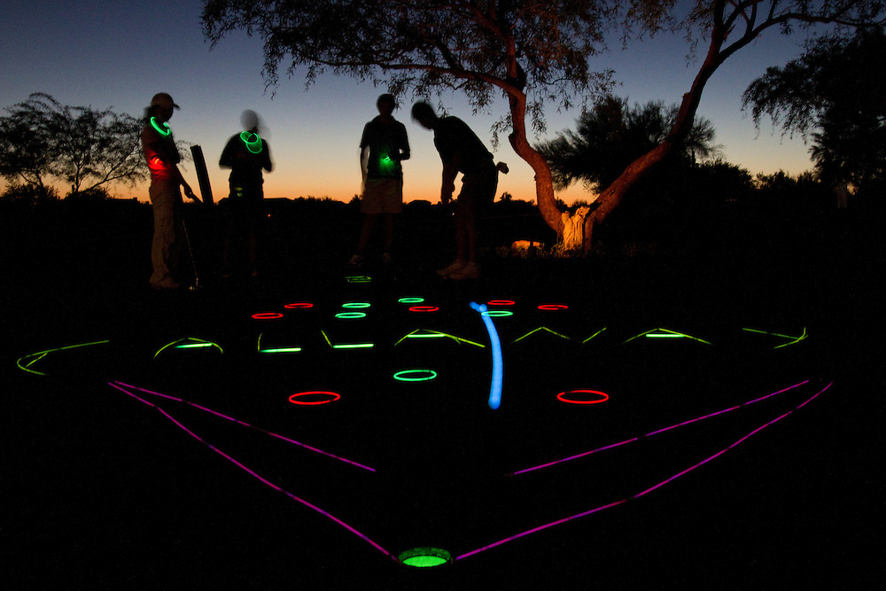 Glow in the dark putting contest at AJGA event is one of the popular activities designed for the young players to keep them having fun after hours as young adults.
