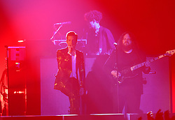The Killers on stage during the MTV Europe Music Awards 2017 held at The SSE Arena, London. Photo credit should read: Doug Peters/EMPICS Entertainment