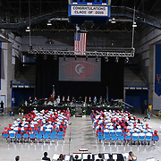 Conrad Schools of Science graduates watch commencement exercises Saturday, June 06, 2015, at The Bob Carpenter Sports Convocation Center in Newark, Delaware.