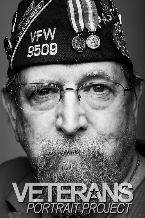 John E. Saunders<br /> Navy<br /> E-6<br /> Electronics Technician<br /> Feb. 1968 - Nov. 1988<br /> Vietnam, Beirut<br /> <br /> Veterans Portrait Project<br /> Louisville, KY<br /> VFW Convention <br /> (Photos by Stacy L. Pearsall)