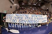 DESCRIZIONE : Campionato 2014/15 Dinamo Banco di Sardegna Sassari - Umana Reyer Venezia<br /> GIOCATORE : Commando Ultra' Dinamo Giovannino Giordo<br /> CATEGORIA : Ultras Tifosi Spettatori Pubblico Striscione<br /> SQUADRA : Dinamo Banco di Sardegna Sassari<br /> EVENTO : LegaBasket Serie A Beko 2014/2015<br /> GARA : Dinamo Banco di Sardegna Sassari - Umana Reyer Venezia<br /> DATA : 03/05/2015<br /> SPORT : Pallacanestro <br /> AUTORE : Agenzia Ciamillo-Castoria/L.Canu