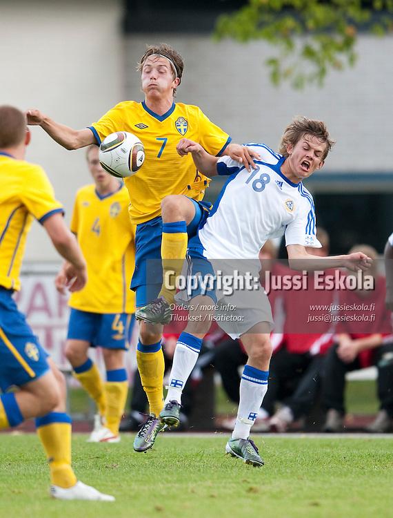 Tobias Wentin. Suomi - Ruotsi. Alle 16-vuotiaiden maaottelu. U16 (s. 1995-). Parainen 23.8.2010. Photo: Jussi Eskola