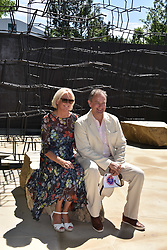 Hugh Bonneville and his wife at the RHS Chelsea Flower Show Press Day, Royal Hospital Chelsea, London England. 22 May 2017.<br /> Photo by Dominic O'Neill/SilverHub 0203 174 1069 sales@silverhubmedia.com
