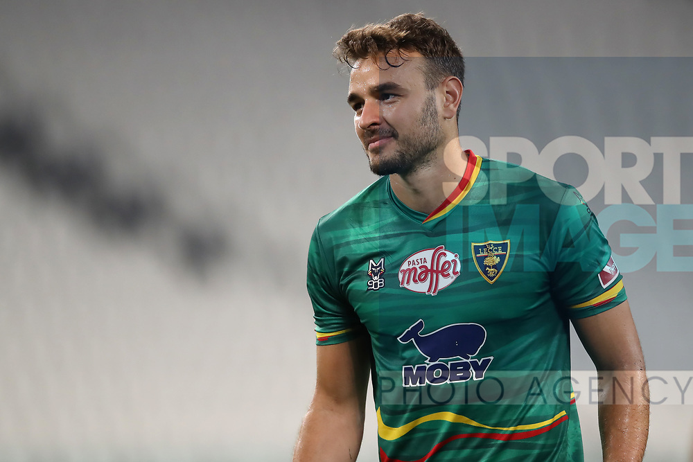 Lecce's Brazilian goalkeeper Gabriel reacts during the Serie A match at Allianz Stadium, Turin. Picture date: 26th June 2020. Picture credit should read: Jonathan Moscrop/Sportimage