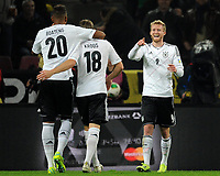 Fotball<br /> Tyskland v Irland<br /> VM-kvalifisering<br /> 11.10.2013<br /> Foto: Witters/Digitalsport<br /> NORWAY ONLY<br /> <br /> 2:0  Jubel v.l. Jerome Boateng, Toni Kroos, Torschuetze Andre Schuerrle (Deutschland)<br /> Fussball, WM-Qualifikation, Deutschland - Irland
