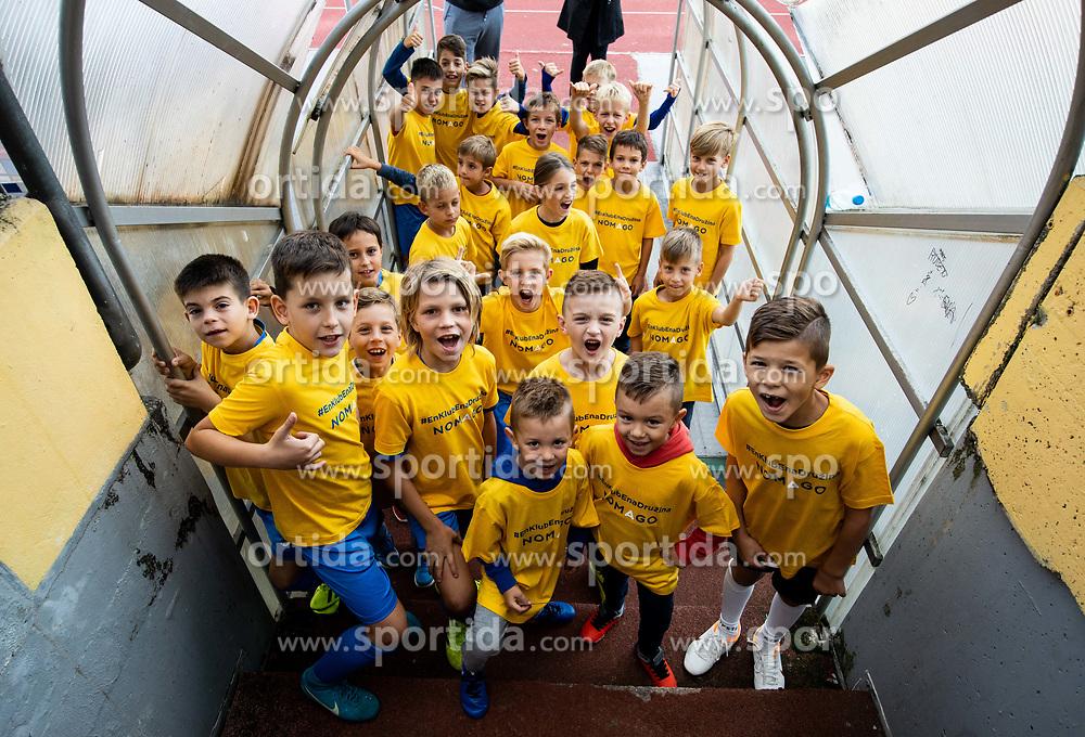 Kids prior to the football match between NK Bravo and NK Celje in 13th Round of Prva liga Telekom Slovenije 2019/20, on October 5, 2019 in ZAK stadium, Ljubljana, Slovenia. Photo by Vid Ponikvar / Sportida