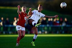 Charlie Wellings of Bristol City marks Sophie Bradley-Auckland of Liverpool Women - Mandatory by-line: Ryan Hiscott/JMP - 19/01/2020 - FOOTBALL - Stoke Gifford Stadium - Bristol, England - Bristol City Women v Liverpool Women - Barclays FA Women's Super League