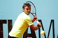 Stan Wawrinka during the Madrid Open at Manzanares Park Tennis Centre, Madrid<br /> Picture by EXPA Pictures/Focus Images Ltd 07814482222<br /> 04/05/2016