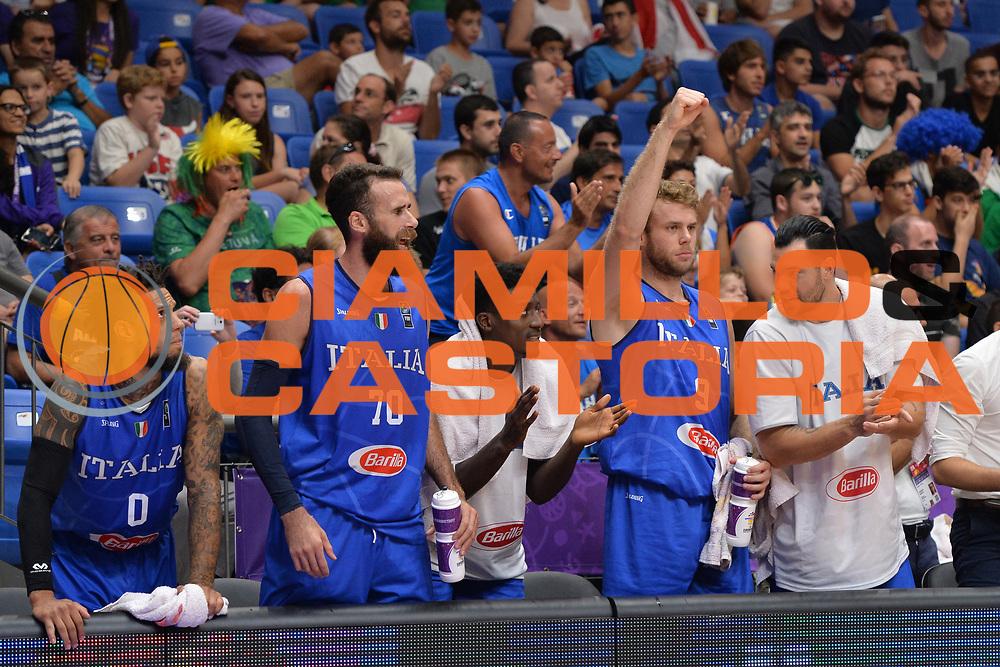 Niccolo Melli, Luigi Datome<br /> Nazionale Italiana Maschile Senior<br /> Eurobasket 2017 - Group Phase<br /> Georgia - Italia<br /> FIP 2017<br /> Tel Aviv, 02/09/2017<br /> Foto Ciamillo - Castoria/ M.Longo