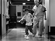 Saleh's recovery went better than anyone had expected, and through it all he never lost the spirit that had earned him the name Lion Heart. One night at Children's Hospital, he and a custodian, Khaled Abdorabihe, played soccer in the hallway until a nurse caught them and sent Saleh back to bed.