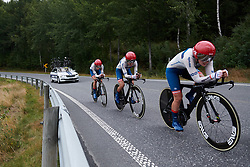 Cervélo Bigla on their way to third place at Ladies Tour of Norway 2018 Team Time Trial, a 24 km team time trial from Aremark to Halden, Norway on August 16, 2018. Photo by Sean Robinson/velofocus.com