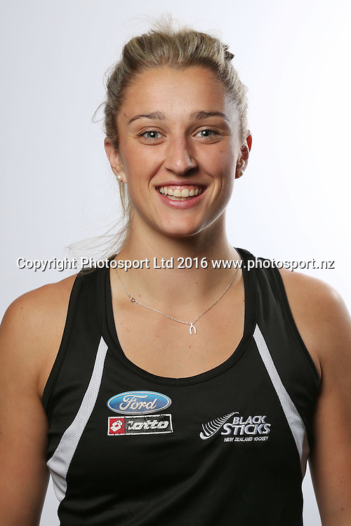 Rachel McCann, New Zealand womens Black Sticks hockey team headshots. North Harbour Hockey Stadium, Albany, Auckland. 23 May 2016. Copyright Image: William Booth / www.photosport.nz