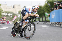 May 4, 2018 - Jerusalem, ISRAEL - Belgian Victor Campenaerts of Lotto Soudal pictured in action during the first stage of the 101st edition of the Giro D'Italia cycling tour, an individual time trial (9,7km) in Jerusalem, Israel, Friday 04 May 2018...BELGA PHOTO YUZURU SUNADA FRANCE OUT (Credit Image: © Yuzuru Sunada/Belga via ZUMA Press)