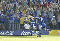 Photo: Aidan Ellis.<br /> Leicester City v Watford. Coca Cola Championship. 25/08/2007.<br /> Leicester's James Wesolowski chase third goal scorer Alan Sheehan