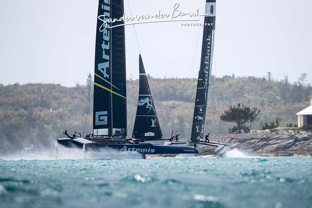 Third day of the Louis Vuitton America's Cup Semi-finals. Artemis Racing versus Softbank Team Japan, Artemis wins 3 in a row, 4-3. 8th of June, 2017, Bermuda
